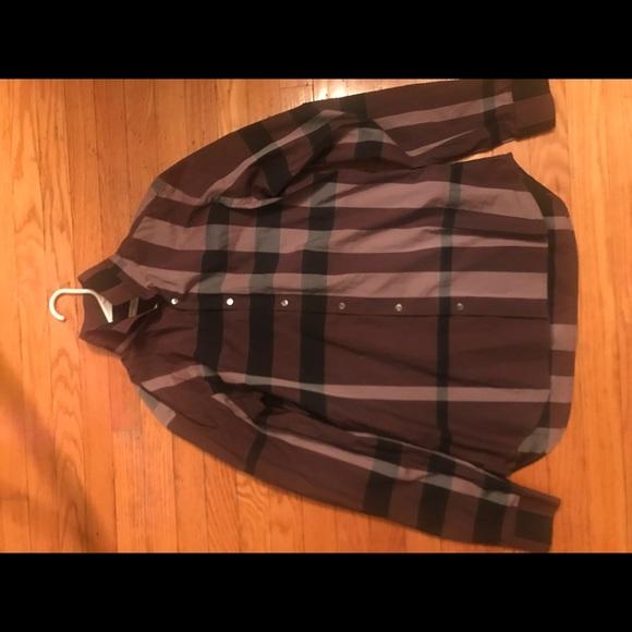 Burberry Tops - Burberry button-down checkered shirt